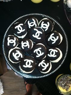 Chanel Themed Bridal Shower - Dessert Table  Chanel Whoopie Pies  www.experiencecreativitee.com