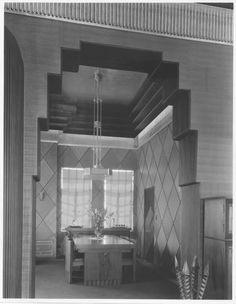 SC Lee image Beverly wilshire penthouse dining room. !1930s