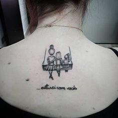 Resultado de imagem para tatuagem menino e menina palito Niece Tattoo, Mom Daughter Tattoos, Mommy Tattoos, Mother Tattoos, Baby Tattoos, Tattoos For Daughters, Sister Tattoos, Mini Tattoos, Love Tattoos