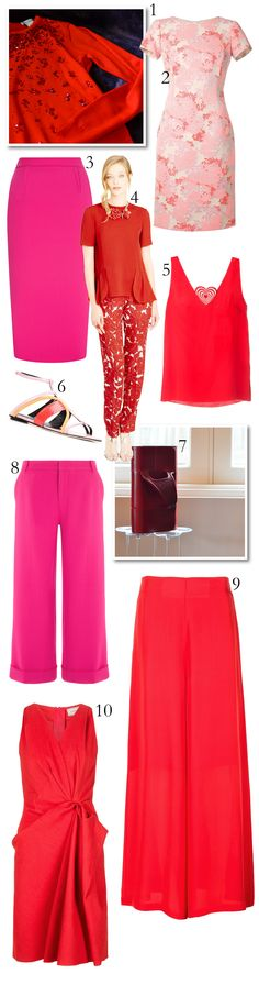 Spring 2016 Trend - Red & Pink