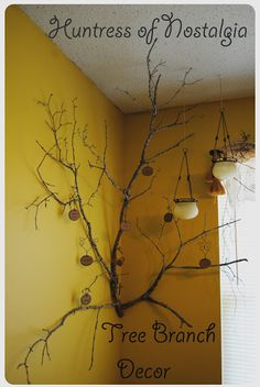 Pinterest Room Decor | The tree branch decor idea came from pinterest.