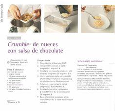 Crumble de nueces con salsa de chocolate. Thermomix #thermomix #receta