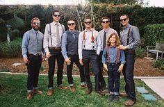Stylish groomsmen – and ring bearer!