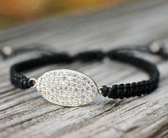 Gorgeous CZ Friendship Bracelet Bling Macrame Bangle
