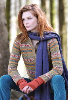 Shetland Fair Isle Cardigan #woolweekcompetition