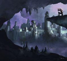 dark elf drow il nuovo Sottosuolo - by Francis Tsai Underdark (2010-01) © Wizards of the Coast & Hasbro