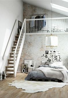 Bedroom Style New York Loft Bedroom.Charming Industrial Loft In New Taipei City IDesignArch . Dramatic Views And A Snazzy Interior Shape Loft Style . Loft Style Apartment Design In New York IDesignArch . Home and Family New York Loft, Loft Apartment Decorating, Apartment Interior, Apartment Ideas, Garage Loft Apartment, Apartment Cleaning, Apartment Goals, York Apartment, Studio Apartment