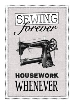 Ha! A funny wall hanging for those who sew.