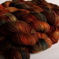 I want this color way! copper penny by Hedgehog Fibres Yarn Stash, Yarn Needle, Crochet Yarn, Knitting Yarn, Yarn Color Combinations, Hedgehog Fibres, Spinning Wool, Copper Penny, Yarn Inspiration