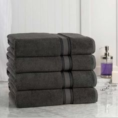 Oversized Bath Sheets This Silver Gray Egyptian Cotton Bath Sheet  Set Of Two Is Perfect