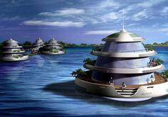 the 500 million italian designed floating resort Underwater Luxury Amphibious Floating Resort By Giancarlo Zema Design Group