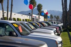 New trucks. A row of new trucks at a dealership , Buying Your First Car, Car Buying Tips, Best Used Trucks, New Trucks, Used Cars Online, Buy Used Cars, Car Salesman, Car Buyer, Car Finance