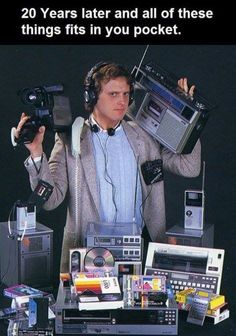 Technology from twenty years ago till now - Electronics