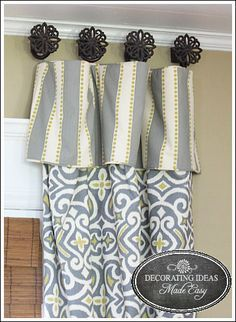 1000 images about window treatments living room on for Unusual ways to hang curtains