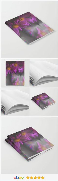 Notebook - Journal - Lined - Unlined - Purple Flowers - Diary - Made To Order | eBay