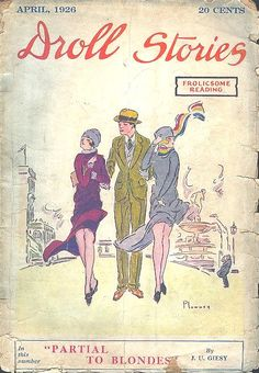 Apr 1926 Droll Stories vintage magazine cover
