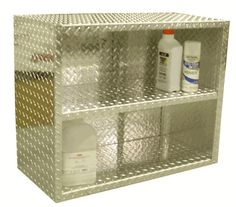 Diamond Plate Garage Storage Wall Shelf