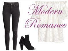 Pair dark, trim denim with a lace top for a look of Modern Romance - niNe. magazine