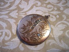 Antique Victorian Atrice Gold Filled Mourning by charmingellie, $85.00