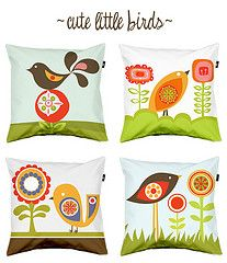 cute bird pillows