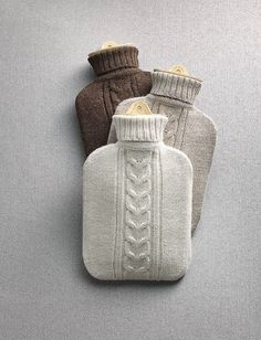 April and May: April and May hearts :: knitted water bottles