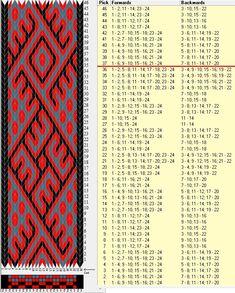 24 tarjetas, 3 colores, repite cada 36 movimientos // sed_473d diseñado en GTT༺❁