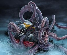 Fragged Seas Artwork ( from my Blog ) colors by Alessandro Buffa