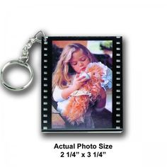 Acrylic photo film strip keychain customized with your photo.  A great gift with that retro feel.  Photo Included and available in either horizontal or vertical orientation.