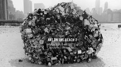 """Nancy Rubins's """"Untitled,"""" one of dozens of artists' projects on display on the extensive landfill of Battery Park City. Manhattan, Battery Park, Park City, Installation Art, Christmas Tree, Display, Sculpture, Holiday Decor, Beach"""