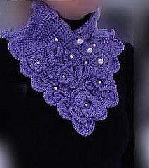 Ravelry: Crochet lavender romantic scarflette pattern by Tatiana Brestovanska
