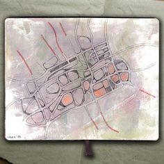 rougart drawing: MIND MAP_Collage, 2015_Mariasun Salgado