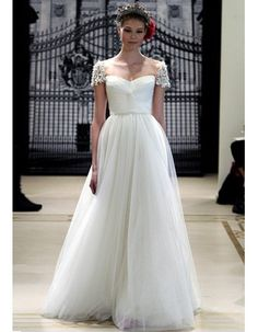 cap sleeve wedding dress. this is it! this is the one