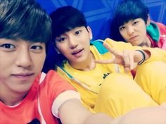 it's B.A.P Daehyun & Zelo and MYNAME's Insoo