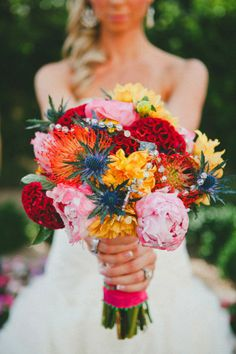 Bridal Bouquet, Butterfly Petals - Phoenix Wedding http://caratsandcake.com/zachandjenna