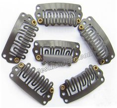 2.8cm U-shaped in Section Dark Brown Steel Hair Extension Clips 20pcs #hairextensionclip #clip #hairclip #clipins
