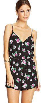 Lush Romper Floral Dress
