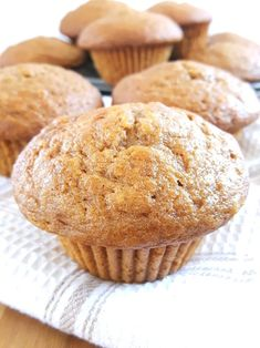 These big bakery style applesauce muffins are made with sour Recipe Using Applesauce, Baking With Applesauce, Applesauce Muffins, Unsweetened Applesauce, Applesauce Recipes, Recipes Using Sour Cream, Make Sour Cream, Sour Cream Cake, Cream Recipes