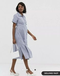 3286b9e32d6fd Shop Glamorous Bloom shirt dress with belt in gingham at ASOS.
