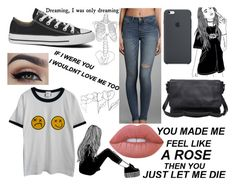 """Untitled #319"" by xkameronx ❤ liked on Polyvore featuring Abercrombie & Fitch, Lime Crime, Chicnova Fashion, Converse and Marc by Marc Jacobs"