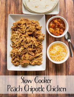 Slow Cooker Peach Chipotle Chicken