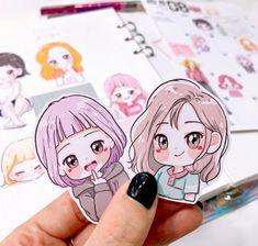 @lallayena Cartoon Girl Drawing, Anime Girl Drawings, Cartoon Art, Cute Drawings, Cute Illustration, Graphic Design Illustration, Anime Chibi, Anime Art, Cute Art Styles