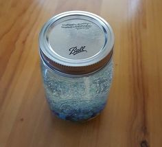 Blueberry Gel Candle Mason Jar Candle Blue by MaidenLongIsland