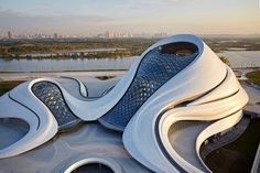 of the world's most beautiful concert halls Harbin Opera House by Beijing studio MAD.Harbin Opera House by Beijing studio MAD. Zaha Hadid Architecture, Parametric Architecture, Architecture Sketchbook, Organic Architecture, Concept Architecture, Futuristic Architecture, Amazing Architecture, Baroque Architecture, Architecture Interiors
