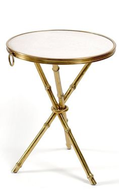 Ralph Lauren, Brass & Limestone Bamboo Table, so elegant, one of over 3,000 limited production interior design inspirations inc, furniture, lighting, mirrors, tabletop accents and gift ideas to enjoy repin and share at InStyle Decor Beverly Hills Hollywood Luxury Home Decor enjoy & happy pinning