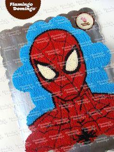 Spider-man cupcake cake / Pastel formado con cupcakes Hombre Araña