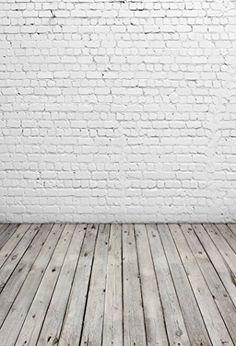 White Brick Wall Photography Backdrop Light Grey Wood Floor Photo Backgrounds for Children Backdrops For Sale, Vinyl Backdrops, Photo Booth Background, Brick Wall Background, Fond Studio Photo, Decoration Photo, Christmas Backdrops, White Brick Walls, Floor Wallpaper