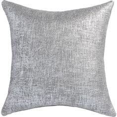 """CB2 Glitterati 20"""" Silver Pillow With Down-Alternative Insert ($35) ❤ liked on Polyvore featuring home, home decor, throw pillows, pillows, plush throw pillows, silver accent pillows, metallic throw pillows, graphic throw pillows and square throw pillows"""