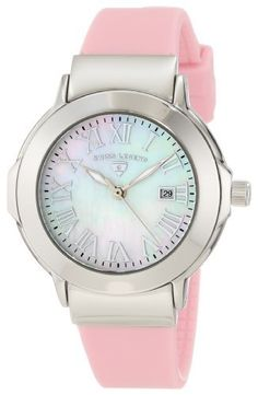 Swiss Legend Women's SL-20032-02-LPK South Beach Mother of Pearl Silicone Watch Swiss Legend. $59.99. Swiss quartz movement. Water-resistant to 100 M (330 feet). Date function at 3:00. White mother of pearl dial with silver tone hands and roman numerals; luminous; screw-down crown. Mineral crystal with sapphire coating; stainless steel case; pink silicone strap