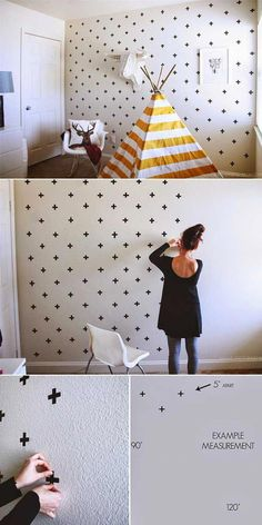 25+ Cool No-Money Decorating Projects That Will Beautify Your Decor Through Wall Art #\u201dhomedecorideasforcheap\u201d & Top 24 Simple Ways to Decorate Your Room with Photos | Deco ...