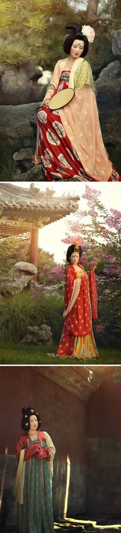3 different styles of Tang Dynasty clothing